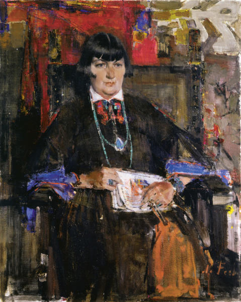 Mabel Dodge Luhan, a major player in the northern NM art scene, is