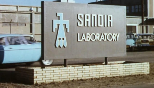 Sandia National Laboratories, formerly called Sandia Laboratory, is featured in the film. (Courtesy of WGBH)