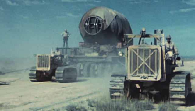 "Work at the Trinity Site at White Sands Missile Range is featured in ""Command and Control."" (Courtesy of WGBH)"