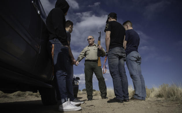 Illegal shooting is one of the most common reasons Sandoval County  sheriff's deputies are called to the Rio Rancho Estates Area west of the  city.