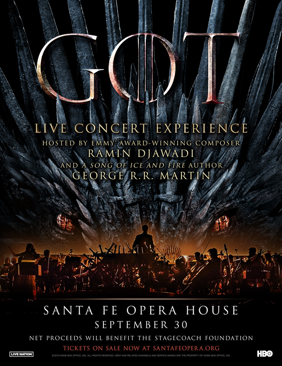 George R.R. Martin to host 'Game of Thrones' concert at Santa Fe Opera