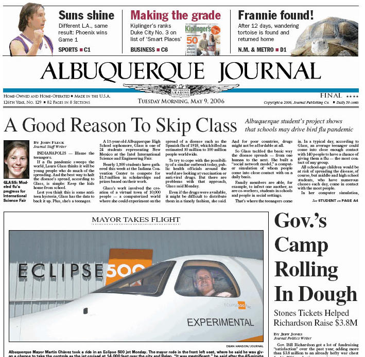Social Distancing Born In Abq Teen S Science Project Albuquerque Journal
