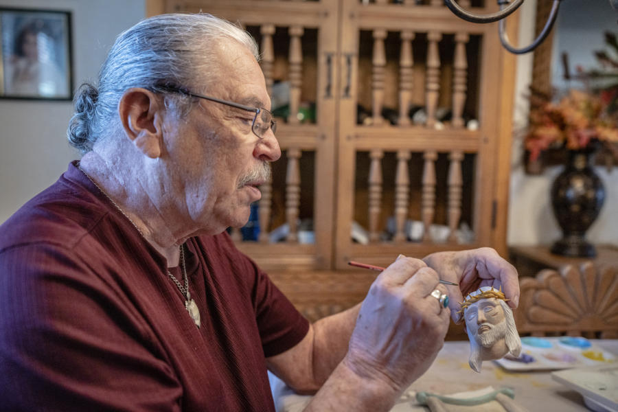 Finding solace in the pandemic, Federico Prudencio prepares for Traditional Spanish Market in Santa Fe